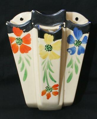 Art Deco Floral Arthur Wood Wall Pocket Sconce 9  In Height • 1.24£