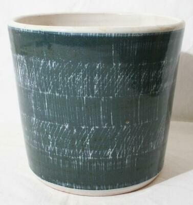 Superb Rye Pottery Sgraffito ? Medium Planter Plant Pot 5  In Height • 10£