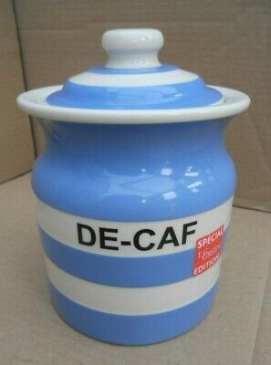 T G Green Cornishware DE-CAF Storage Jar • 195£