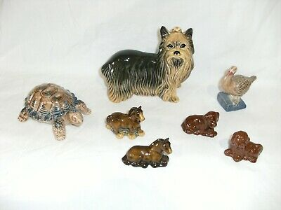 Vintage Collection Of 7 Quality Porcelain China Animal ORNAMENTS 4 Wade • 1.99£