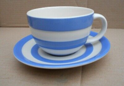 T G Green Cornishware Cappuccino Cup & Saucer • 20£