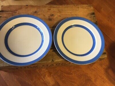 Vintage Pair TG Green Cornishware Tea Plates – Great! – • 5.99£