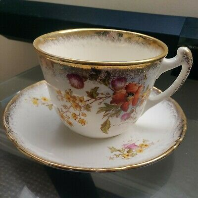 A Wessel Imperial Bonn Late Victorian Giant Cup And Saucer • 47.99£
