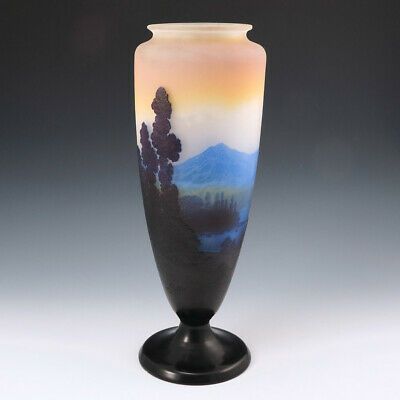 A Very Fine Monumental Galle Landscape Vase C1915 • 5,295£