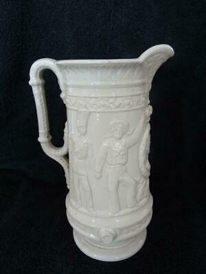 Rare & Large Sandford Pottery Crimea Jug - Army, Navy & Brave Volunteers A/F • 45£