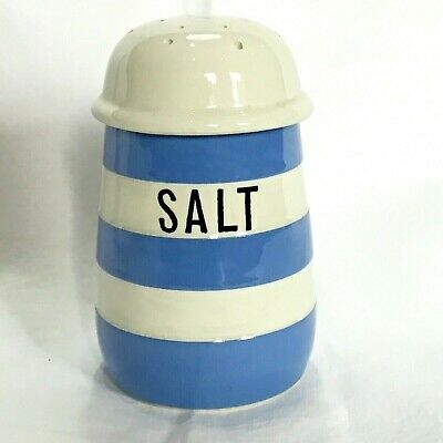 Large T. G. Green Cornishware Salt Shaker ~ 1930's • 3£