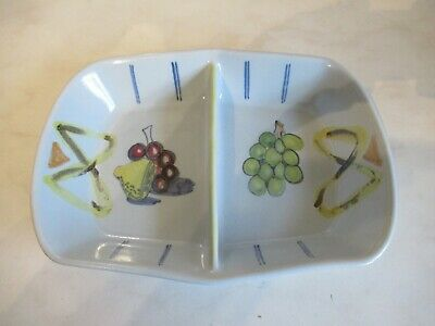 Buchan Pottery Divided Dish. FESTIVAL • 8£
