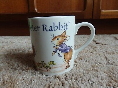 Official Peter Rabbit Mug Frederick Warne & Co. Running Jumping Tumbling • 6£