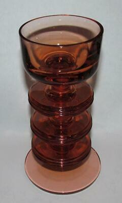 Wedgwood Amber Glass 3 Disc Candle Holder • 9.99£