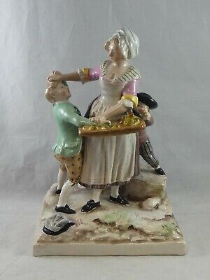 Vintage Continental French Faience Pottery Figure Group Luneville Quimper • 24.95£