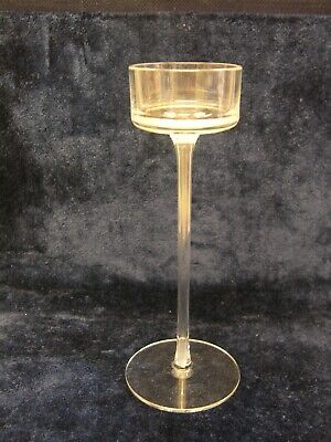 Wedgwood 'BRANCASTER' Clear Candle  Holder - 21cm • 12£