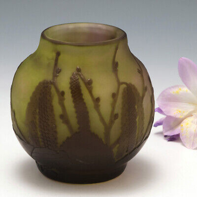 A Galle Cameo Glass Vase C1910 • 617£