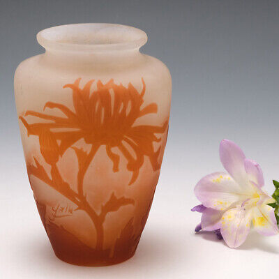 A Galle Cameo Glass Vase 1906-14 • 736£