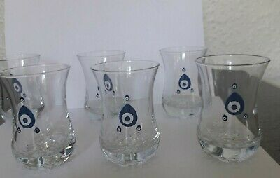 Set Of  Six New Shot Glasses With Bubble Glass Bottoms - 3.5 Inch Depth BNWB  • 7.50£