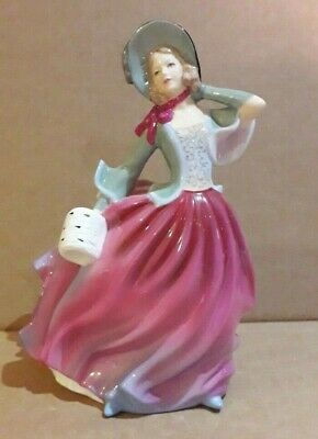 Royal Doulton - Pretty Ladies Figurine - Autumn Breeze - Stands 17.5 Cm Tall • 13.48£
