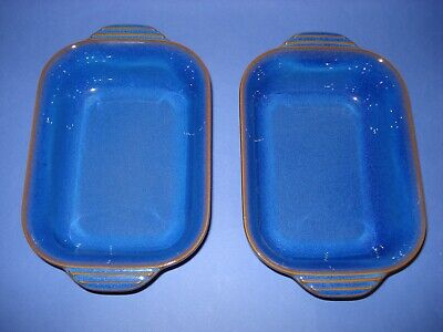 Denby Imperial  Blue Small Pie/ Serving  Dishes *2* • 19.99£