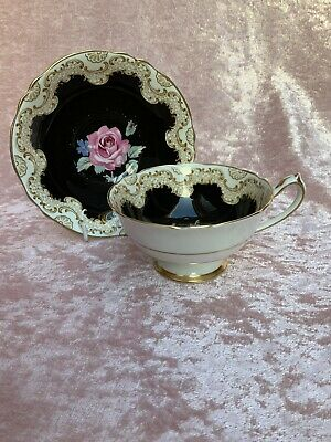 PARAGAN Victoria Vintage China Cup & Saucer By Appointment Of HM Queen Mary • 8.50£