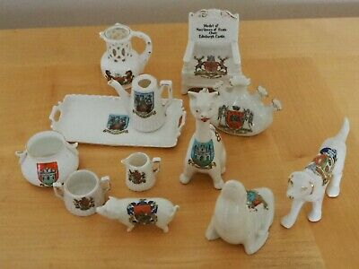 Collection Of Vintage Crested China • 10£
