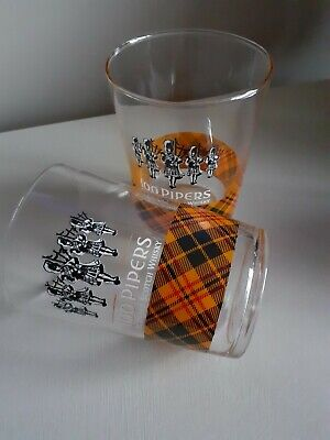 100 Pipers Large Whiskey Tartan Glasses  • 5£