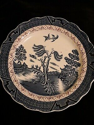 Booths Real Old Willow, A8025  21cm Or 81/4  Medium Dinner Plate.no Gilding  • 4.90£