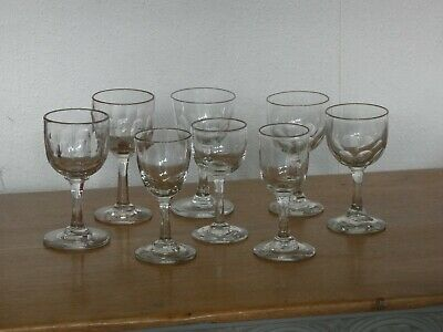 Selection Of 8 Antique Victorian / Edwardian Glasses • 14.95£