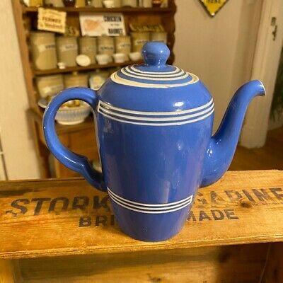 Vintage Bretby Blue Banded Kitchenware – Coffee Pot – Great! –  • 39.99£