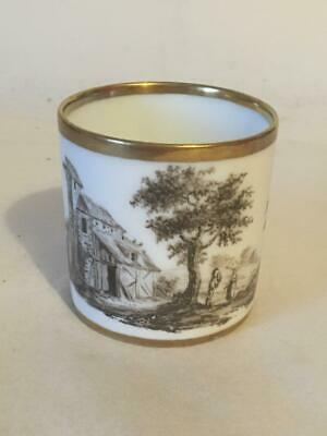 Early 19c Bat Printed Porcelain Coffee Can - Spode ? • 24.99£