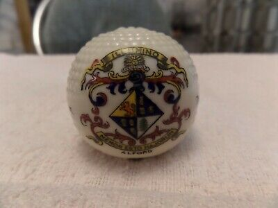 Lovely Alford Ceramic Golf Ball By Arcadian China Commemorating First Game Golf • 2£