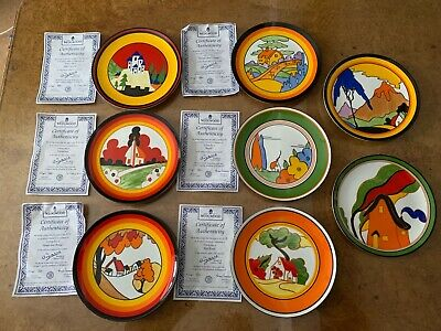 The Bizarre World Of Clarice Cliff Full Set Of 8 Collectors Plates . • 46£