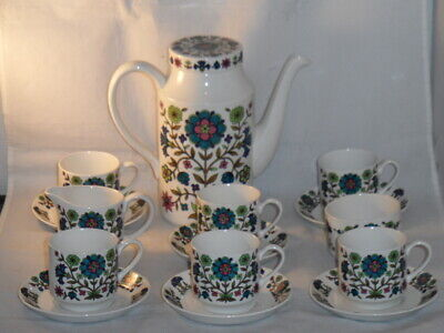 COMPLETE MIDWINTER POTTERY COUNTRY GARDEN COFFEE SET C1968-1978 JESSIE TAIT    • 49.99£