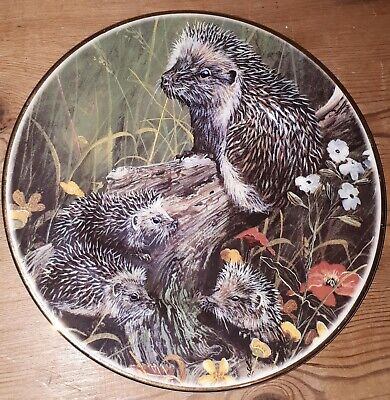 Fenton Bone China Hedgehogs Plate • 0.99£