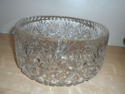 CRYSTAL FRUIT BOWL - 8 Inches • 7.99£