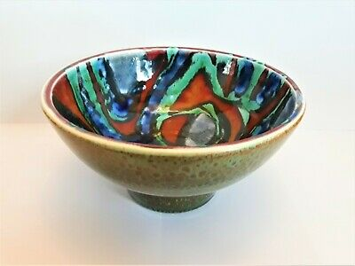 Vintage Poole Pottery Delphis Bowl, Signed Irene Kerton 1960s • 50£