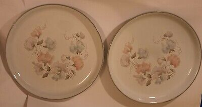 2 X Vintage Denby Encore Sweet Pea  10 Inch Dinner Plates - Made In England • 14.99£