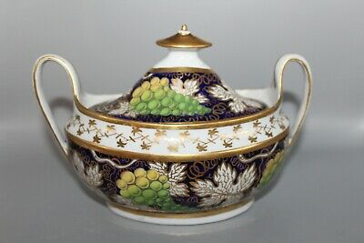 ANTIQUE NEW HALL LIDDED SUCRIER PATTERN No 779 GRAPES & VINES  • 24.99£