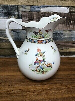 John Maddock & Sons Antique Fine China Water Pitcher Pre 1906 -Damage On Lip • 29.99£