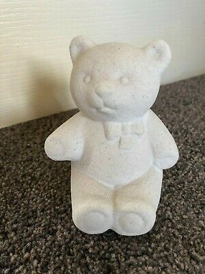 Marbell Stone Art Teddy Bear Figurine. Belgium. 4.5  Tall. • 3.20£