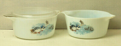 2 Round  Casseroles   By Pyrex In The Wild Fowl   Design. With Lid • 10£