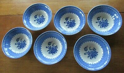 Churchill - *out Of The Blue* - 6 Cereal Dishes/bowls • 24.95£