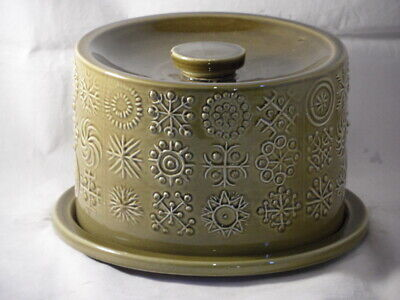 Portmeirion Pottery Green Totem Cheese Dome & Base  • 29.99£