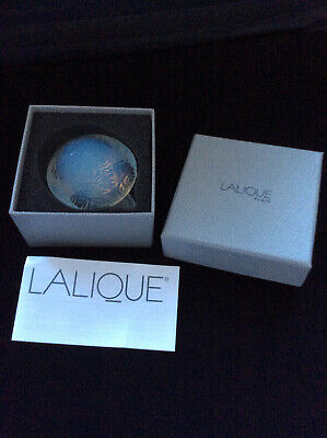 Lalique Opalescent Glass Turtle Nib With Labels • 56£