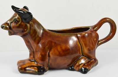 Retro Szeiler Brown Lying Down Cow Creamer • 12.99£