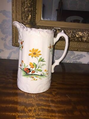 Large Decorative Jug Decorated With Flowers • 6£