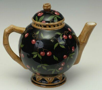 Zrike Bamboo Forest 7 Cup Teapot With Lid Cherries 2001-2003 MINT! Hard To Find! • 47.87£