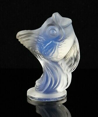 Vintage Art Deco Sabino Opalescent Glass Leaping Fish Figure, Signed • 39.99£