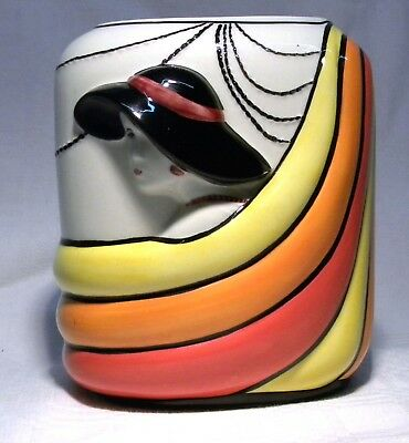 Old Ellgreave Pottery Deco Style Lorna Bailey Flapper Vase • 47.99£