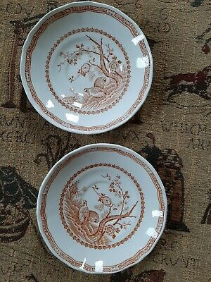 Furnivals Brown Quail Large Saucer X 2 • 4.99£