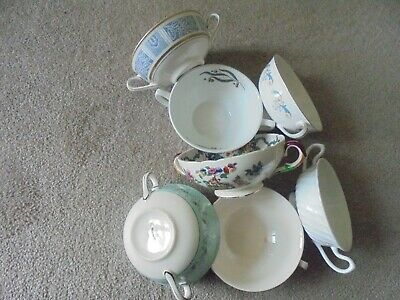 Vintage  2 Handles Soup  Dishes - 7 Assorted Dishes • 4.99£