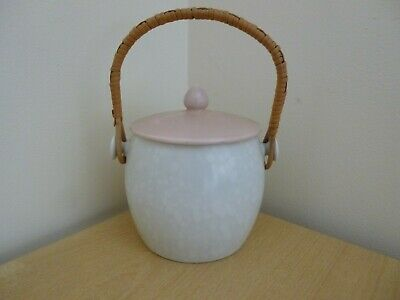 Poole Pottery Pink/Seagull Twintone Biscuit Barrel - Vintage • 19£