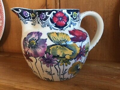 Myott Sons Tuscan Jug Poppies Vintage • 24.99£